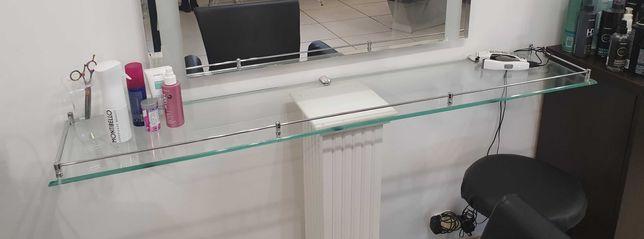 2 półki szklane 150 cm x 30 cm półka szklana