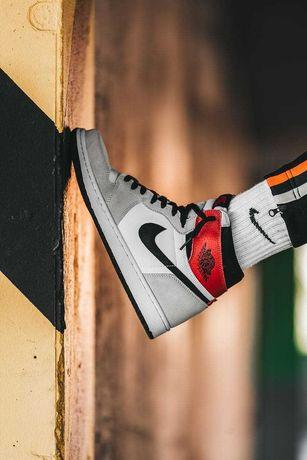 Мужские кроссовки Nike Air Jordan 1 Light Smoke Gray 40-45 Хит Осени!