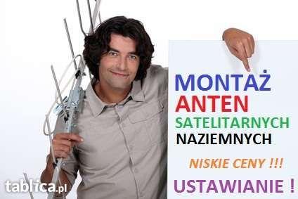 Montaż,ustawianie anten satelitarnych,naziemnych-najtaniej w Lublinie!