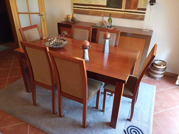 Conjunto de móveis sala e móvel de entrada (Cerejeira / Wengue)
