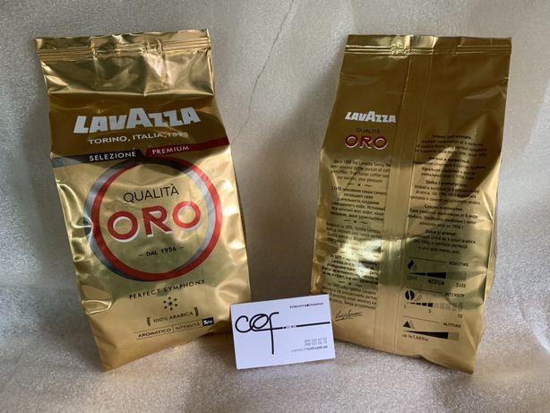Кофе в зернах Lavazza Qualita Oro 1кг кава лавацца оро 1000г