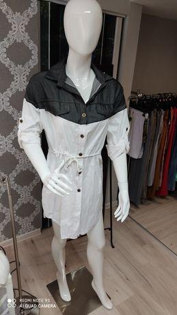 Piękna długa koszula sukienka tunika s m l xl