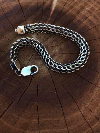 Продам серебряный браслет Венеция/питон