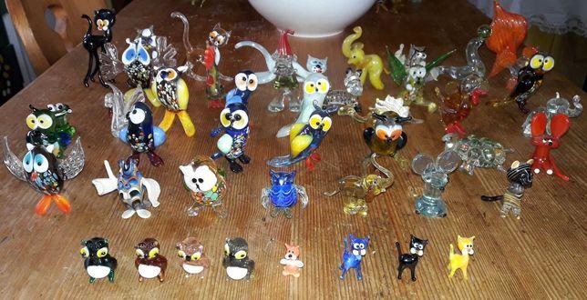 Stare figurki szklane