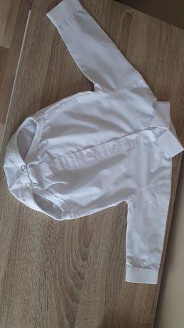 Sprzedam białe koszulobody, koszula  na chrzest r.74