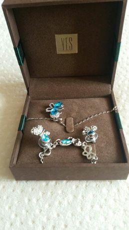 komplet biżuterii srebrnej Yes - motylki