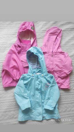 Курточки на девочку, размер 74-80, дождевик
