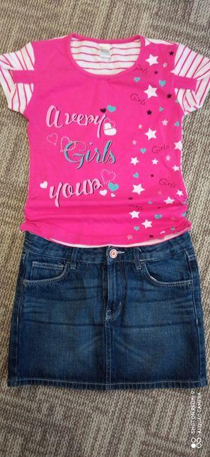 Продам юбку  и футболку на девочку