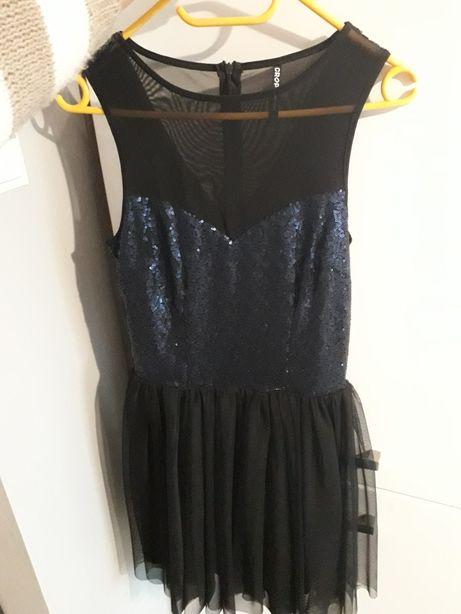 Sukienka s 36 tiulowa rozkloszowana cekiny