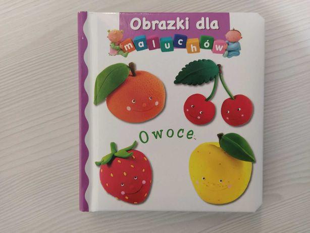 NOWA książeczka obrazki dla maluchów Owoce