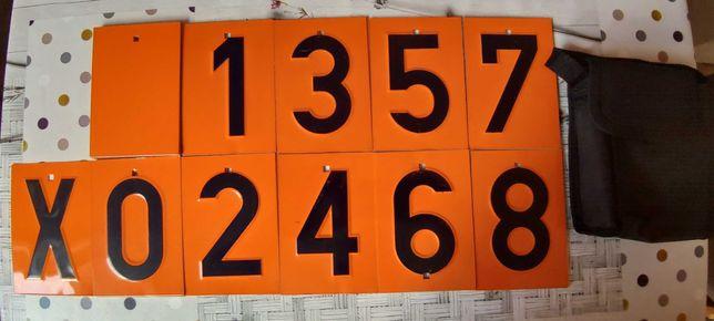 Cyfry do tablicy ADR - wymienne 38 i 36 cyfr