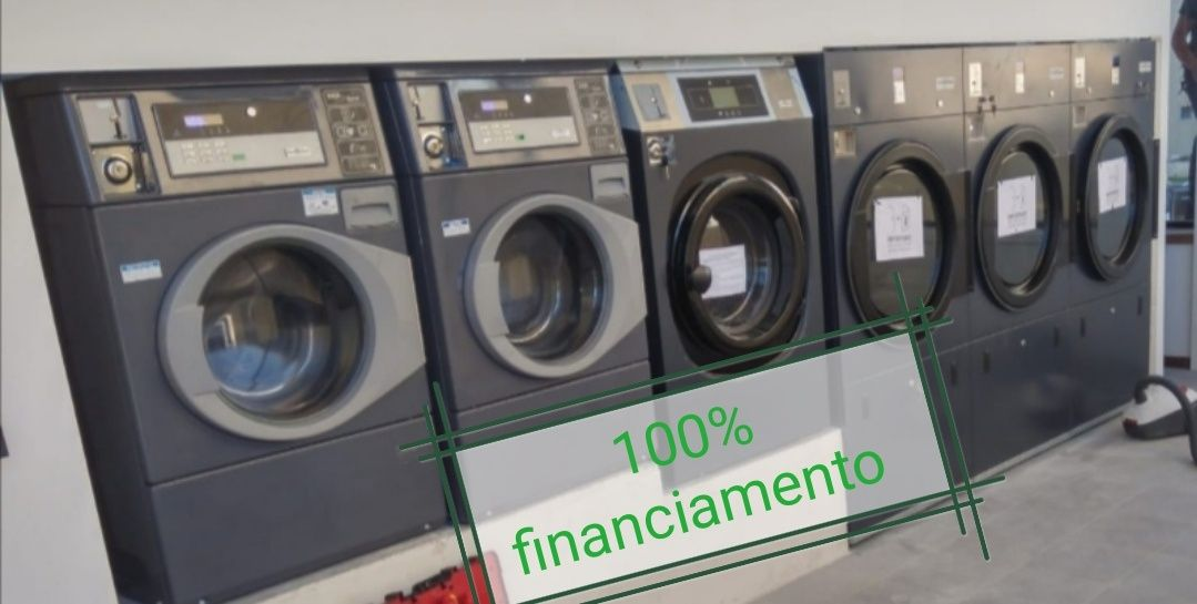 100% de financiamento lavandaria Self-service