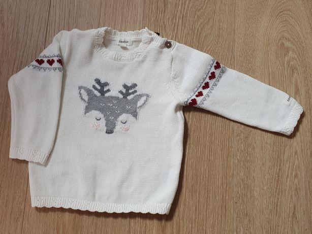 Sweterek swiateczny Newbie r. 74