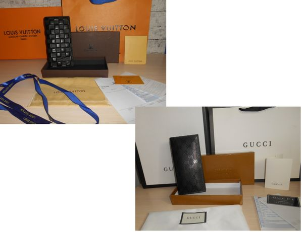 Кошелек мужской портмоне Louis Vuitton, Gucci кожа, Италия 55-004