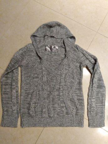 Sweter przez głowę M/L melanż