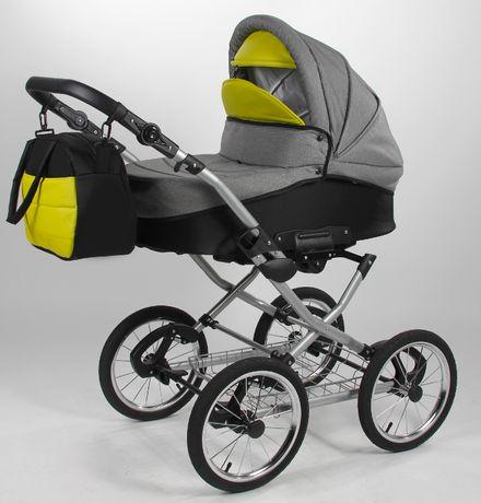 Wózek dziecięcy w stylu retro na wahaczach i sprężynach-na gwarancji
