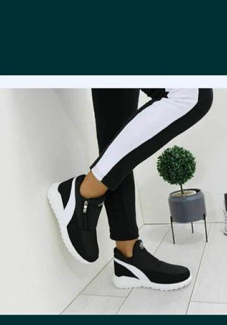 Хит продаж!!!Кроссовки на меху, дутики зимние женские