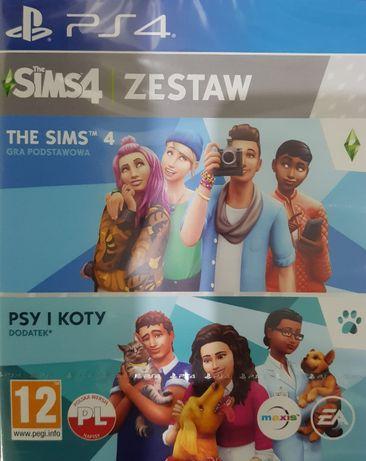 The Sims 4 podstawa + dodatek Psy i koty PL PS4 Nowa Kraków