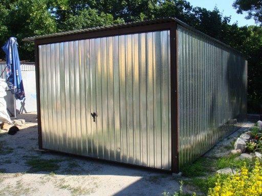 Garaż blaszany 3x5 brama uchylna GARAŻE BLASZANE Blaszak Cała Polska