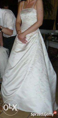 Sprzedam suknię ślubną z trenem firmy Demetrios rozm.38/40.