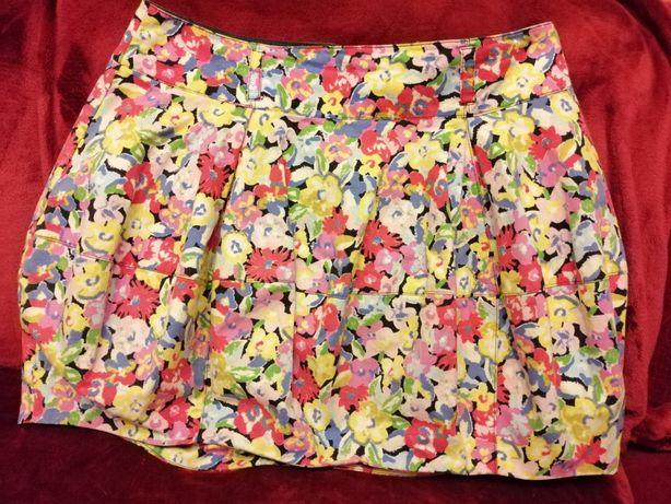 Spódnica krótka kolorowa kwiaty urocza M 38 letnia river island