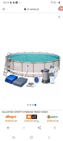 Stelaż basenu 549×549×132 + pompa