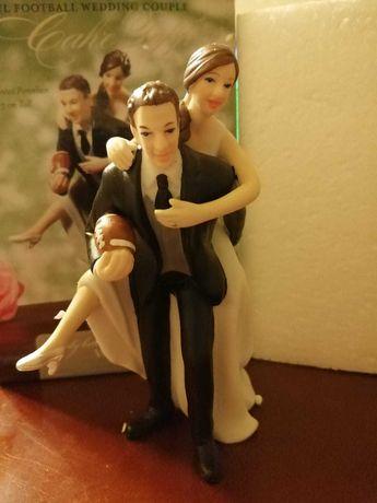 Figurka na tort weselny ślub nowa w pudełku playful football