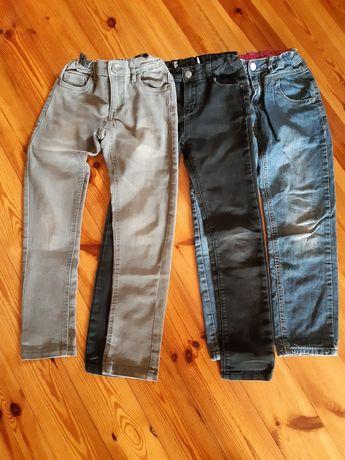 Spodnie 3 pary rozmiar 128