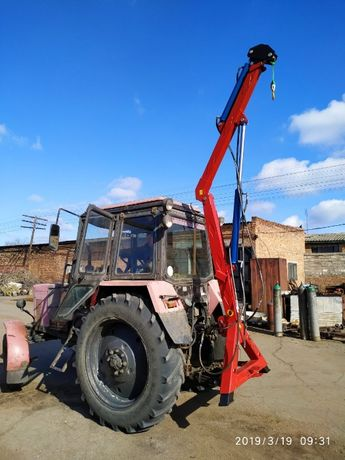 Кран манипулятор на трактора навантажувач