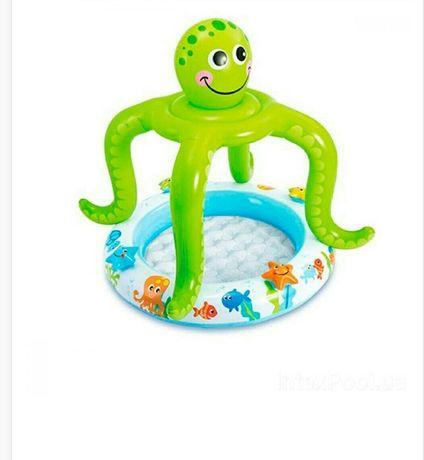 Бассейн intex осьминог для деток, малышей надувной