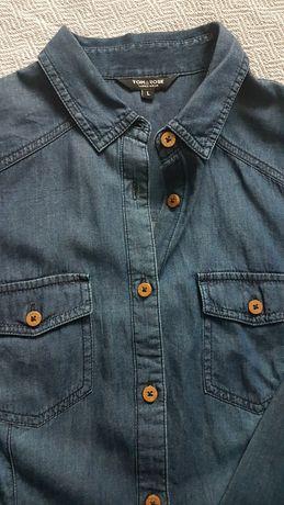Koszula jeansowa rozmiar L