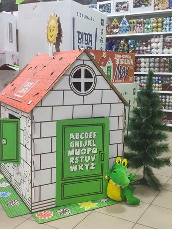 Картонный домик раскраска. 1280 рублей