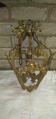 Люстра светильник латунь времён СССР