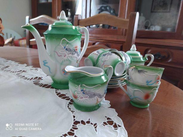 Serviço de chá chinês (cor verde)