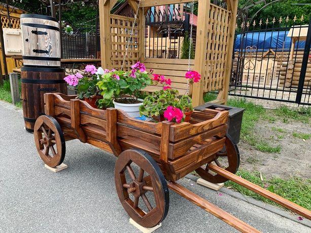 Тилежка воз тачка для цветов для растений кашпо