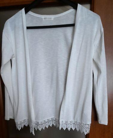 Sweter biały dziewczęcy