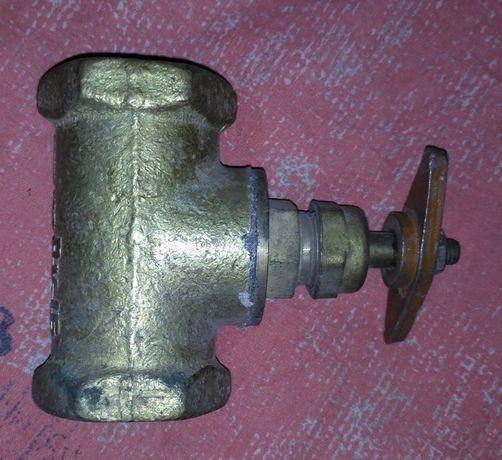 Задвижка ДУ32 РУ16 вентиль новый латунь латунный советский ссср клапан