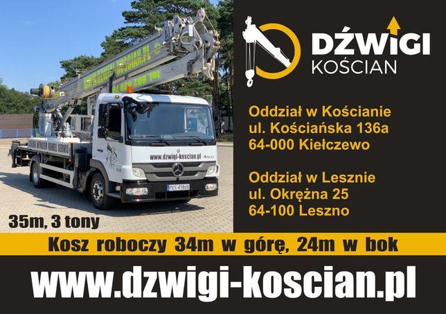Dzwig dekarski Bocker 36/2400 35/3000 żuraw ciesielski budowalny