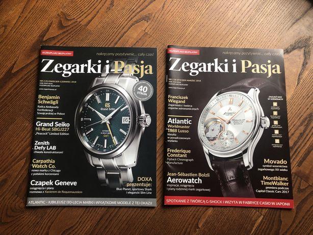 """Dwa czasopisma """"Zegarki i pasja"""""""