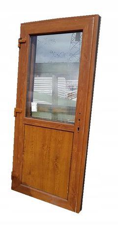 Drzwi Zewnętrzne Pcv KACPRZAK Złoty dąb 100x200