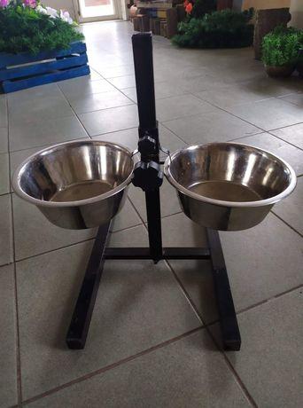 miski dla psa na stojaku