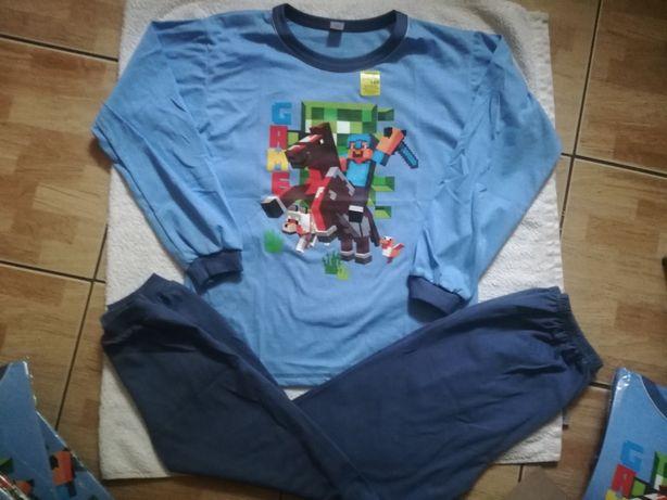 Piżama Minecraft r 152 długi rękaw