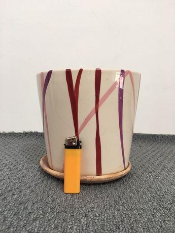 Керамический глянцевый горшок для растений/цветов (вазон)
