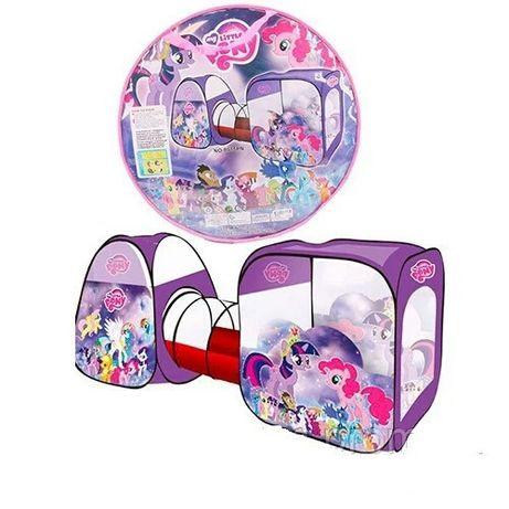Палатка С Тоннелем для девочки My Little Pony. Палатка ДВОЙНАЯ с пони.
