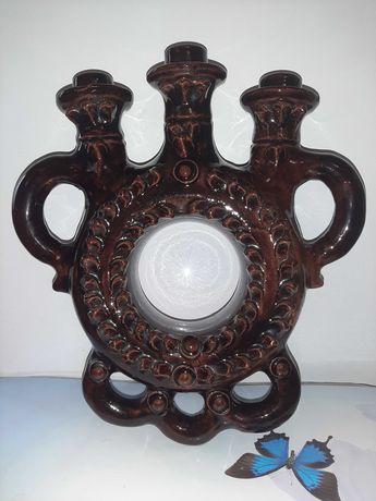 Подсвечник на 3 свечи СССР керамика