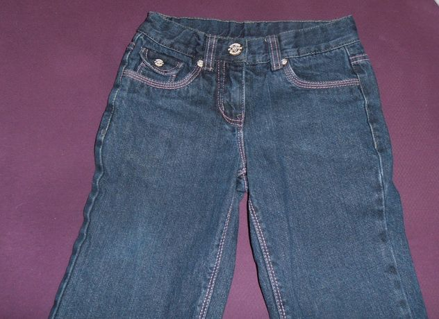 Pocopiano jeansy, ocieplane dziewczęce rozm.128