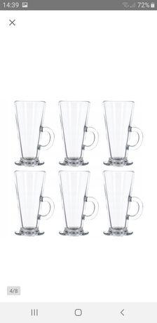Zestaw szklanek 6 szt do kawy Latte 250 ml