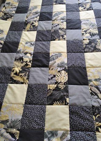 """Narzuta patchwork 150/205 """"Złote liście"""""""