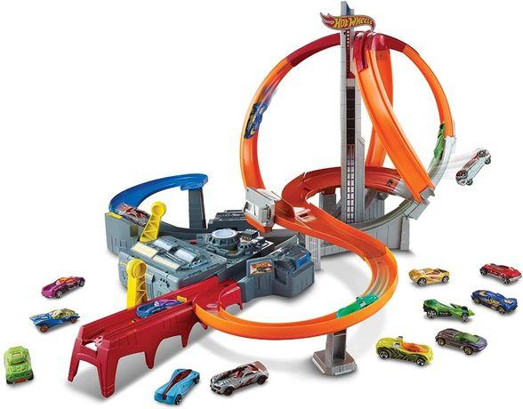 Hot Wheels Spin Storm Track Set. Высокоскоростной многополосный трек