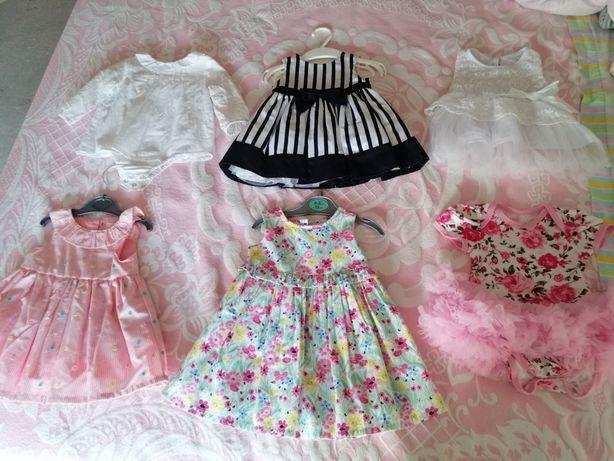 Lote de seis vestidos 0-3 meses - NOVOS